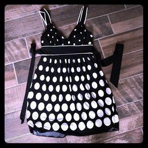Speechless black white polka dot dress M